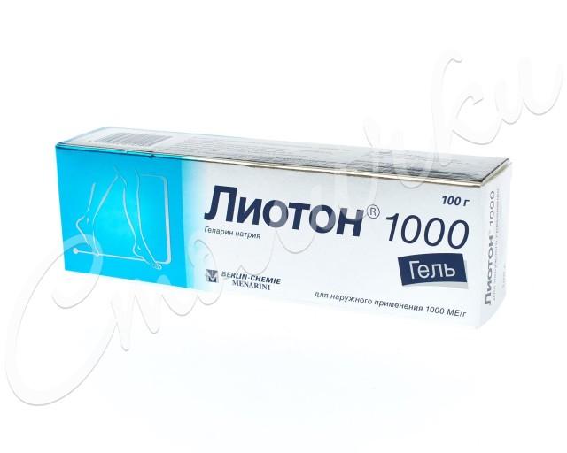 Лиотон 1000 гель 1000 ЕД/г 100г купить в Москве по цене от 862 рублей