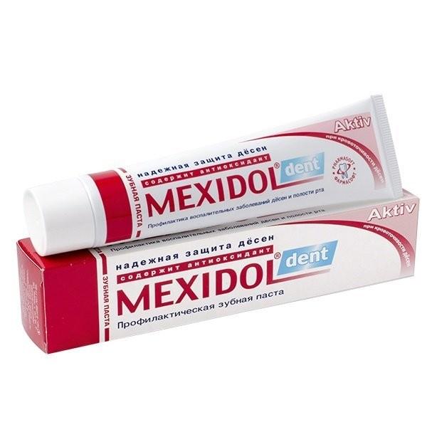 Мексидол Дент зубная паста Актив 65г купить в Москве по цене от 137 рублей