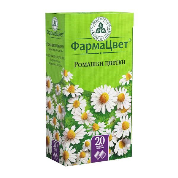 Ромашка аптечная цветки 1,5г №20 купить в Москве по цене от 64 рублей