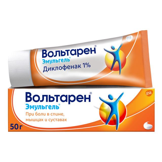 Вольтарен Эмульгель гель 1% 50г купить в Москве по цене от 351 рублей