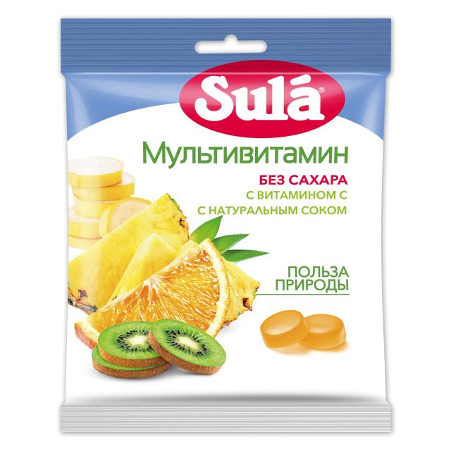 Зула леденцы Мультивитамин пакет 60г купить в Москве по цене от 64 рублей