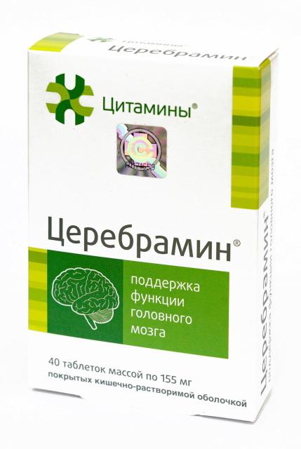 Церебрамин таблетки №40 купить в Москве по цене от 473 рублей