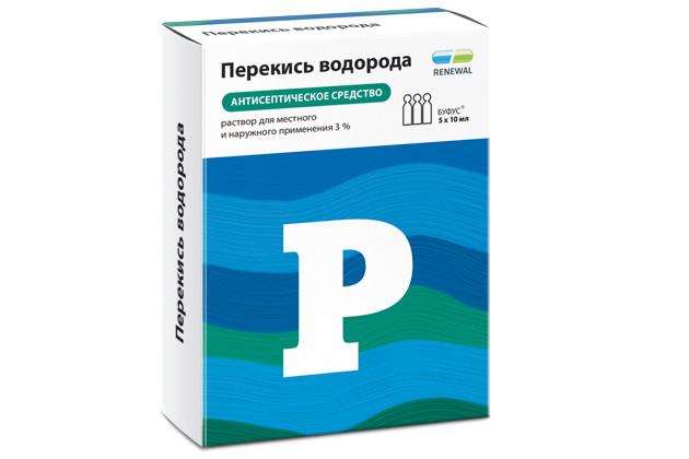 Перекись водорода раствор 3% 10мл №5 буфус купить в Москве по цене от 50.5 рублей