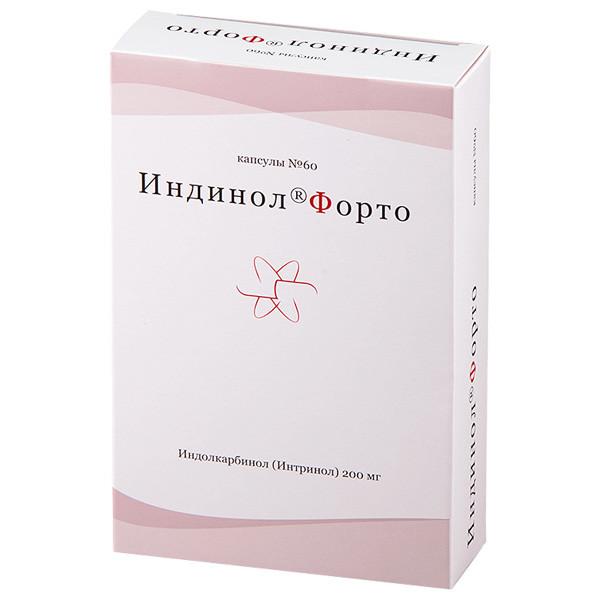 Индинол Форто капсулы 200мг №60 купить в Москве по цене от 2390 рублей