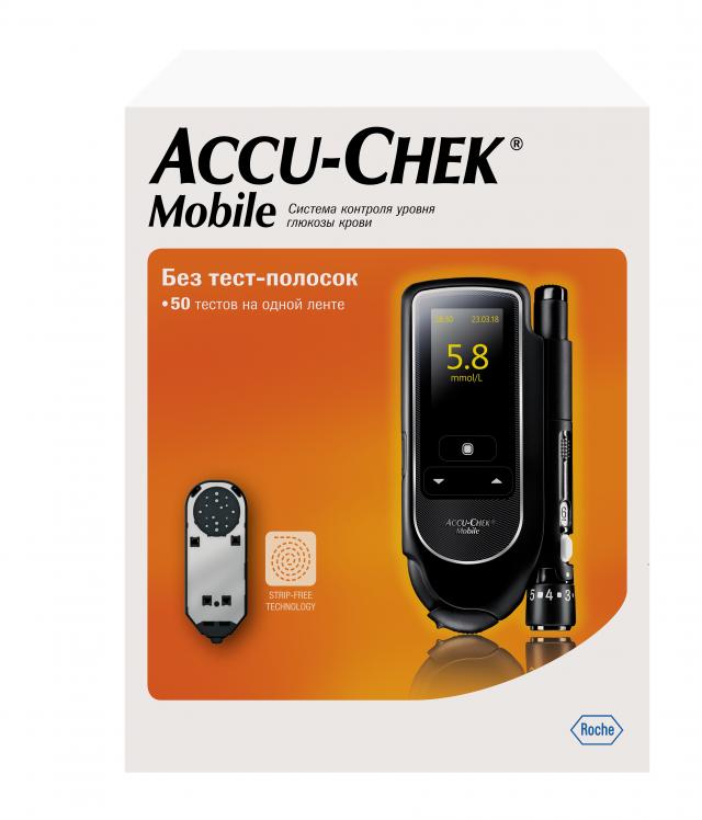 Акку-Чек Мобайл глюкометр набор купить в Москве по цене от 3940 рублей