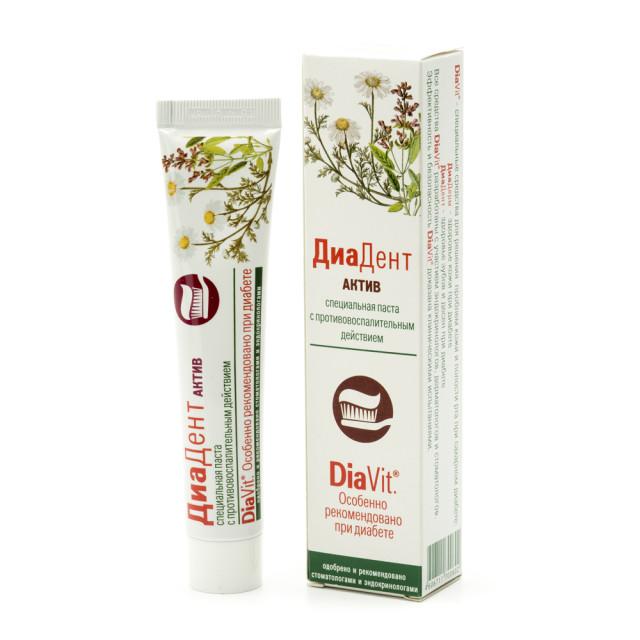 Диадент зубная паста Актив 50мл купить в Москве по цене от 116 рублей