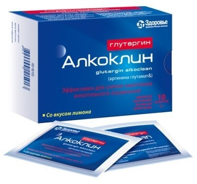 Алкоклин глутаргин порошок для приготовления раствора внутрь 1г саше 3г №10 купить в Москве по цене от 498 рублей
