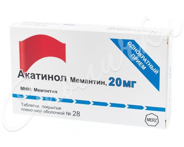 Акатинол Мемантин таблетки п.о 20мг №28 купить в Москве по цене от 2777 рублей