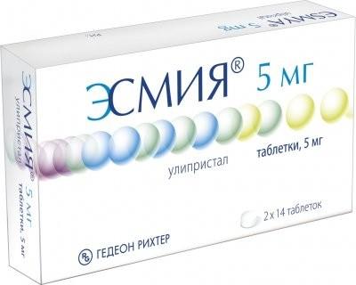 Эсмия таблетки 5мг №28 купить в Москве по цене от 9050 рублей
