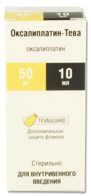 Оксалиплатин концентрат для инфузий 5мг/мл 10мл №1 купить в Москве по цене от 1242.5 рублей