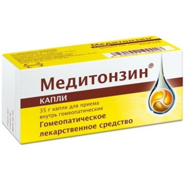 Медитонзин капли внутрь гомеопатические 35г купить в Москве по цене от 0 рублей