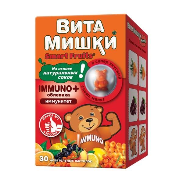 ВитаМишки Иммуно+ пастилки жевательные №30 купить в Москве по цене от 476 рублей