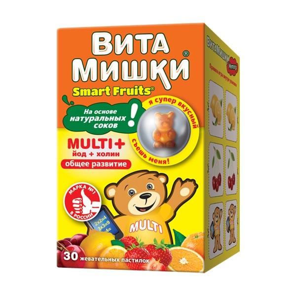 ВитаМишки Мульти+ паст. жевательные №30 купить в Москве по цене от 455 рублей