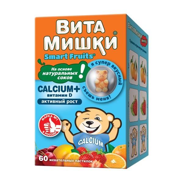 ВитаМишки Кальций+ паст. жевательные №60 купить в Москве по цене от 615 рублей