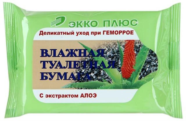 Бумага туалетная влажная антигемор. Алоэ №20 купить в Москве по цене от 28 рублей