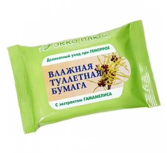 Бумага туалетн. влаж. антигемор. Гамамелис №20 купить в Москве по цене от 75 рублей