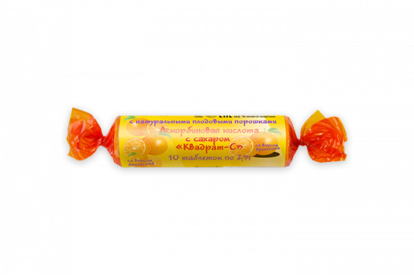 Аскорбиновая к-та крутка с сахаром Апельсин таблетки №10 купить в Москве по цене от 19 рублей