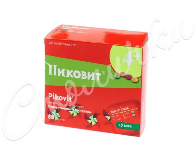 Пиковит таблетки п.о №60 купить в Москве по цене от 424 рублей