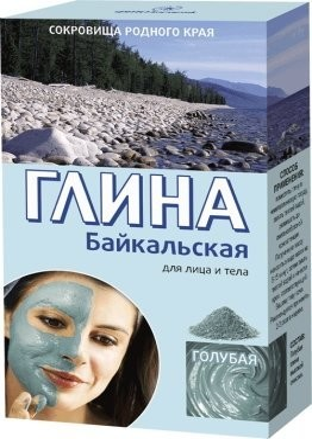 Фитокосметик глина Байкальская омолаж.голубая 75г купить в Москве по цене от 29 рублей