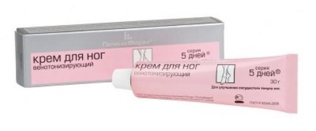 5 дней крем для ног венотониз. 30г/35г купить в Москве по цене от 87 рублей