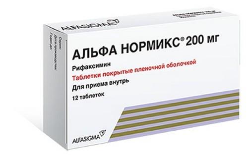 Альфа Нормикс таблетки п.о 200мг №12 купить в Москве по цене от 831 рублей