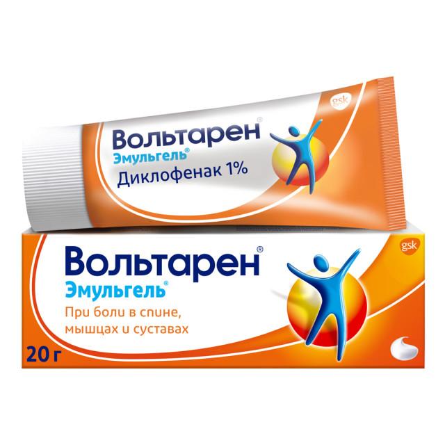 Вольтарен Эмульгель гель 1% 20г купить в Москве по цене от 211 рублей