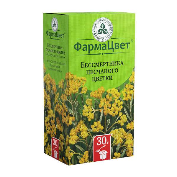 Бессмертник песчаный цветки 30г купить в Москве по цене от 87 рублей