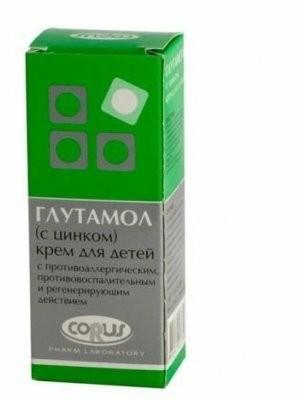 Глутамол крем детский с цинком 50мл купить в Москве по цене от 177 рублей