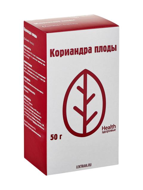 Кориандр плоды Здоровье 50г купить в Москве по цене от 57 рублей