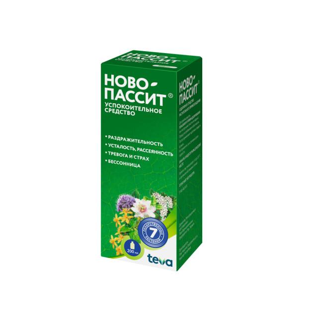 Ново-Пассит раствор для внутреннего применения 200мл купить в Москве по цене от 363 рублей