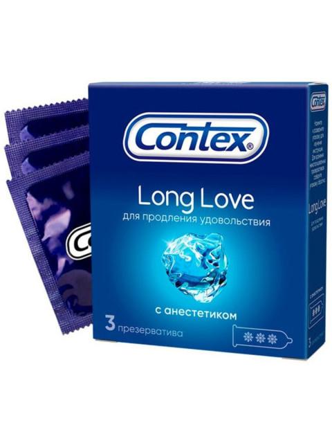 Контекс презервативы Long Love (анестетик) №3 купить в Москве по цене от 141 рублей