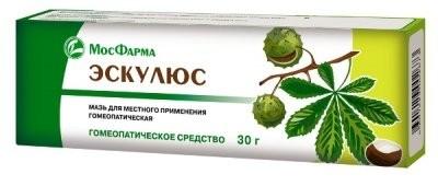Эскулюс мазь 30г купить в Москве по цене от 60 рублей