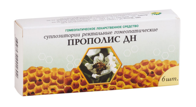 Прополис ДН суппозитории ректальные №6 купить в Москве по цене от 273 рублей