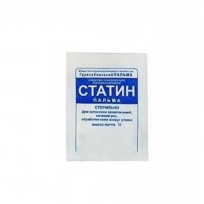 Статин присыпка кровоостан. 1г купить в Москве по цене от 17 рублей