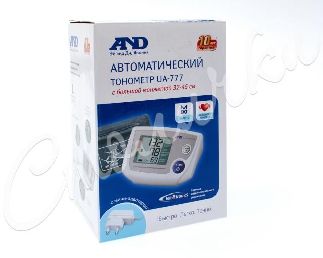 Эй Энд Ди Тонометр автомат UA-777 с адаптером/больш. манжета купить в Москве по цене от 3940 рублей