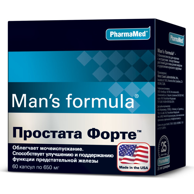 Менс/ф Простата форте капсулы №60 купить в Москве по цене от 858 рублей