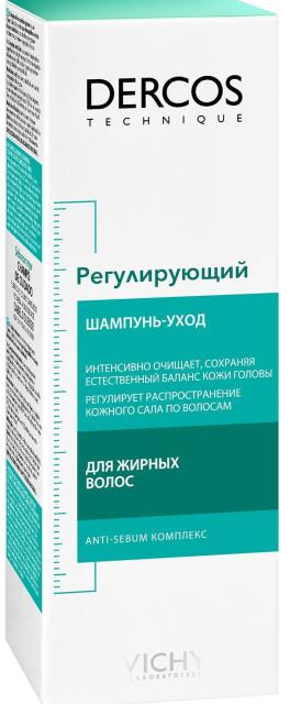 Виши Деркос шампунь регулир.д/жирн.волос 200мл купить в Москве по цене от 919 рублей