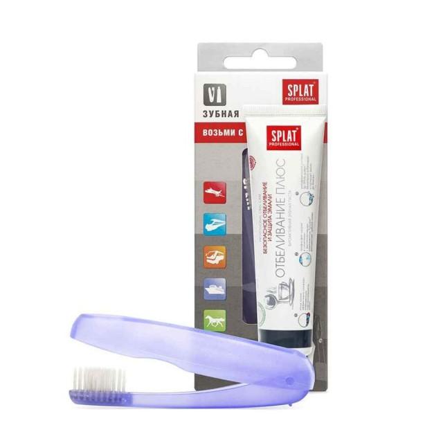 Сплат набор зубная паста Отбеливание плюс 40мл+з/щетка купить в Москве по цене от 105 рублей