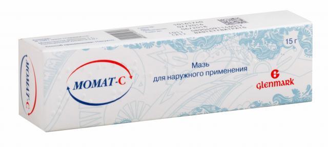 Момат С мазь 0,1% 15г купить в Москве по цене от 611 рублей