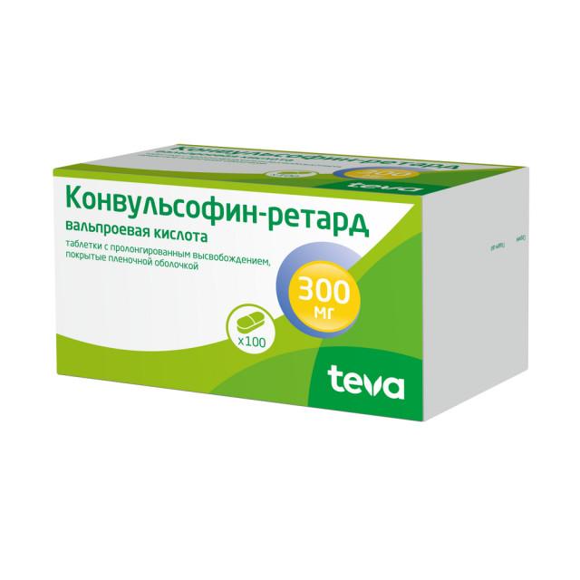Конвульсофин ретард таблетки п.о 300мг №100 купить в Москве по цене от 634.5 рублей