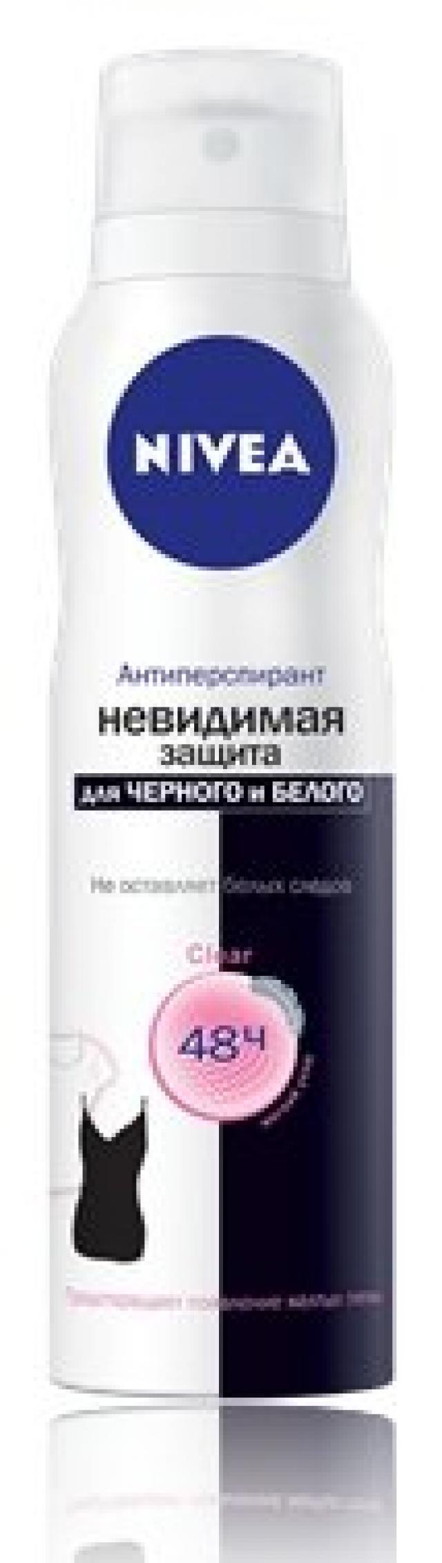 Нивея дезодорант-спрей Невид.защита для черного и белого 150мл 82230 купить в Москве по цене от 208 рублей