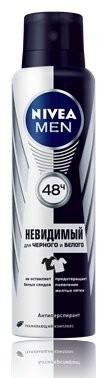 Нивея Мен дезодорант-спрей Невид.защита для черного и белого 150мл 82241 купить в Москве по цене от 269 рублей