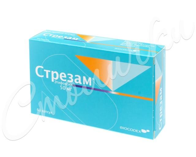 Стрезам капсулы 50мг №60 купить в Москве по цене от 1180 рублей