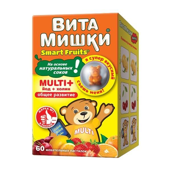 ВитаМишки Мульти+ паст. жевательные №60 купить в Москве по цене от 568 рублей