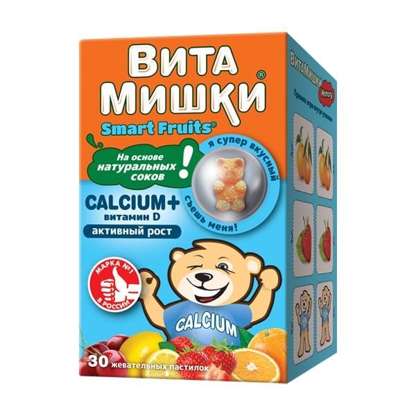 ВитаМишки Кальций+ паст. жевательные №30 купить в Москве по цене от 418 рублей