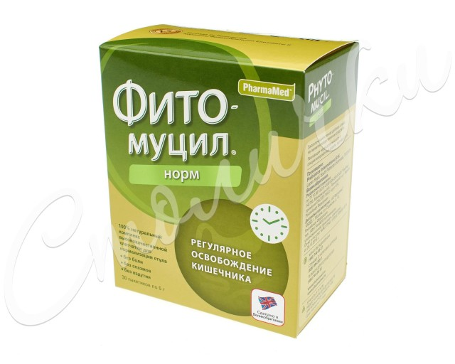Фитомуцил Норм порошок пак. 5г №30 купить в Москве по цене от 577 рублей