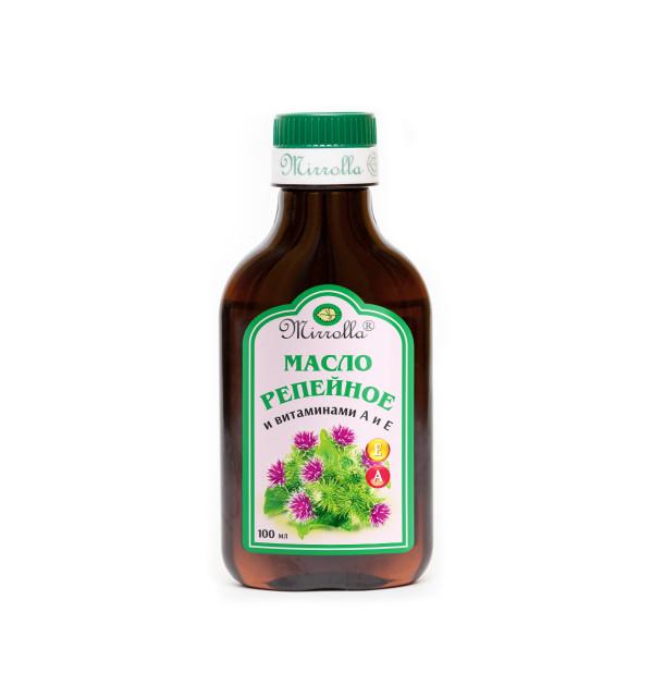 Репейное масло Вит. А и Е 100мл купить в Москве по цене от 55 рублей