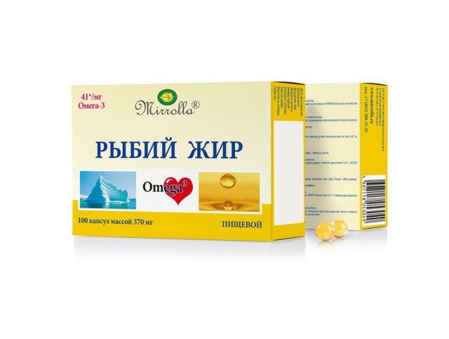 Рыбий жир Мирролла Пищевой капсулы №100 купить в Москве по цене от 39 рублей