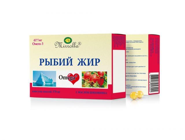 Рыбий жир Мирролла Шиповник капсулы №100 купить в Москве по цене от 45 рублей