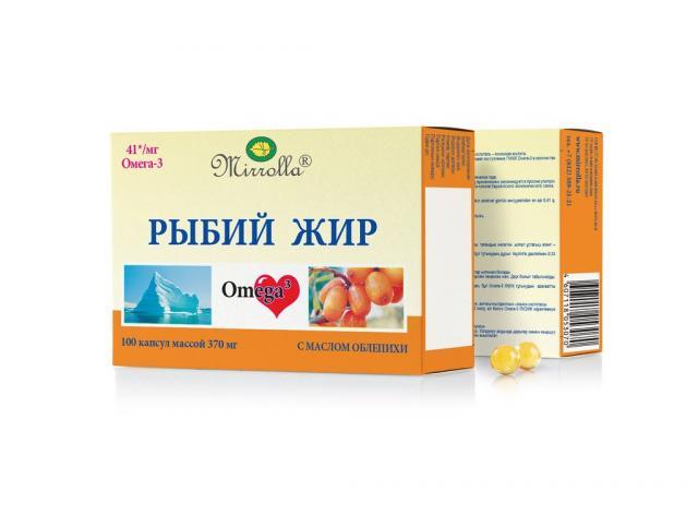 Рыбий жир Мирролла Облепиха капсулы №100 купить в Москве по цене от 45 рублей